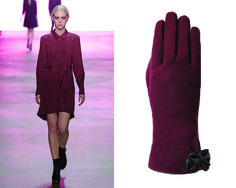 Trend colour: burgundy red