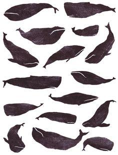 Art whales pattern  JulieVW lovely-stuff