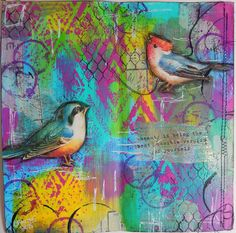 Mixed Media Art Journal page by Christy Houser... DECONSTRUCTED Art Journaling page