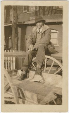 Classic swag. Langston Hughes as a student at Lincoln University, Pennsylvania. (1927) from the NYPL Digital Gallery
