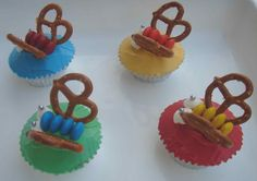 Butterfly cupcakes - The kids can decorate themselves.
