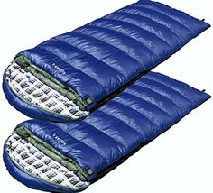 High Peak USA Alpinizmo Kodiak 0 Sleeping Bag Set of 2, Blue, Over Size
