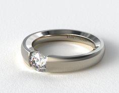 James Allen - Platinum Contoured Tension V121 by Danhov Designer Engagement Ring SKU 17316p
