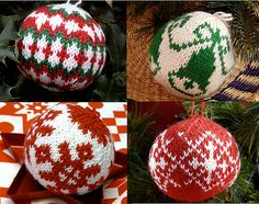 Sharing My Knitted Christmas Ball Addiction!! | Gingerbread Snowflakes