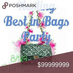👜Best in Bags Party 8/23 I'll be hosting the best in bags party on August 23 @12 PST. Leave me your Posh compliant closet names here!!!!! Bags