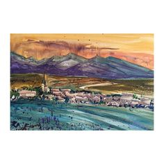 Watercolor Painting  | Landscape painting | Original painting | Mountains | Wall decor | Watercolor | Landscape | Original art | Painting