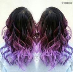 Pink & purple hair • cute • color For teens or girls