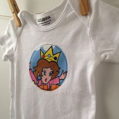 a59aa4f350 Princess Peach Bodysuit - Vintage Nintendo Bodysuit - Super Mario Baby Gift  - Gamer Baby Gift - Available in newborn
