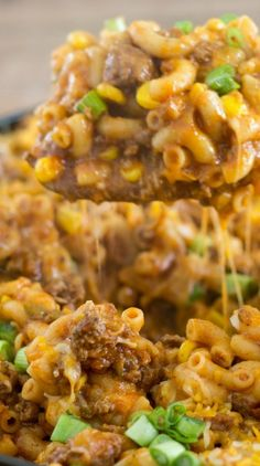 ONE SKILLET CHEESY TACO PASTA