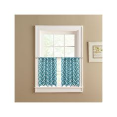 Colordrift Misha 2-pack Tier Curtains, Turquoise/Blue (Turq/Aqua)