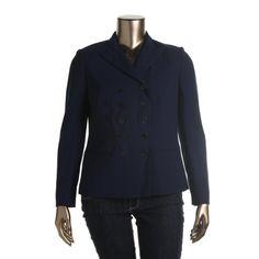 Lauren Ralph Lauren Womens Wool Double-Breasted Blazer