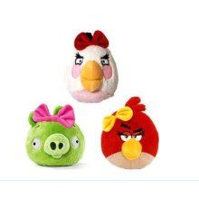 Set Of 3 Angry Birds Plush Girl Bird With Sound