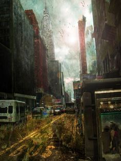 Post-Apocalyptic City by OpticalIrony. #postapocalyptic #Art #gosstudio .★ We recommend Gift Shop: http://gosstudio.com ★