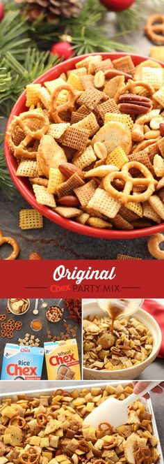 There's nothing like being home for the holidays with a fresh batch of Original Chex Party Mix. In 15 minutes, this recipe is ready to serve and welcome all of your holiday guests. Full of flavor and a popular holiday tradition, Original Chex Party Mix is your holiday in the making.