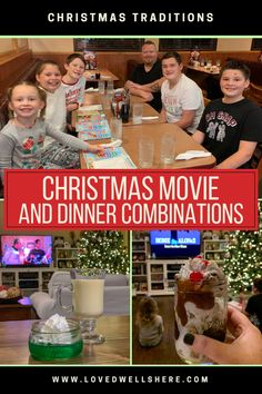 Christmas Movie and Dinner Combinations