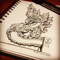 8 Best Naga Tattoo Images Thai Tattoo Drawings Tattoo Ideas