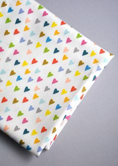 hearts original fabric fat quarter heart by KatherineCodega, $9.00