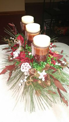 Property of Personalized Traditions - yule Christmas Log - holds 3 candles