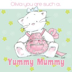 Strawberry Kisses Yummy Mummy Personalised Card
