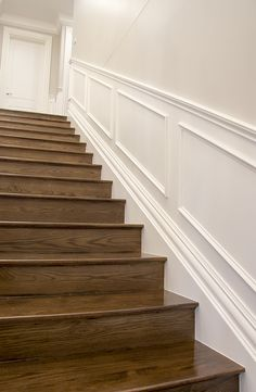 Hamptons Style Staircase using Intrim Group SK497 Skirting & Architraves, IN17 Inlay Moulds and Custom Chair Rails