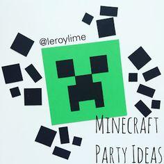 LeroyLime: DIY Minecraft Party Ideas