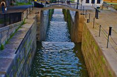 Erie Canal locks at Lockport, NY.