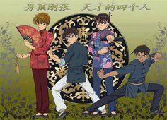 Saguru Hakuba, Kaito Kuroba, Shinichi Kudo and Heiji Hattori