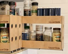 12 Piece Hanging Spice Rack-Silver   Etsy Door Spice Rack, Hanging Spice Rack, Pull Out Spice Rack, Pantry Door Storage, Spice Storage, Spice Rack Dimensions, Spice Bottles, Finger Pull, Hook And Loop Tape