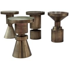 Anna Karlin Antiqued Brass-Plated Cold Rolled Steel Chess Stools