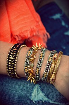 Stella & Dot arm party by blogger Happily Grey