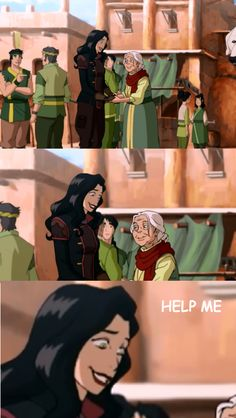 Legend of Korra // Funny Meme Asami and the granny