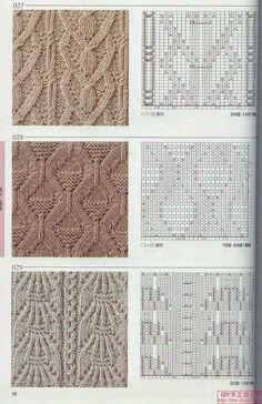 Photo from album Knitting Patterns on Yandex. Diy Crafts Knitting, Knitting Charts, Sweater Knitting Patterns, Knitting Stitches, Knit Patterns, Baby Knitting, Stitch Patterns, Knitting Needles, Crochet Tools