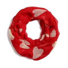 In love with this Harlow Heart Print Infinity Scarf-I'm not a big scarf fan, but I LOVE this. I really like red and also hearts. This would be perfect in my next fix.