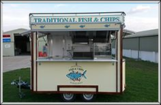 Tram Style fish and chip mobile catering trailer built by A and R Willis Catering Trailers