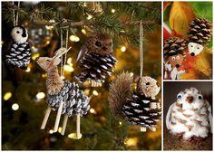 29 söta julgranshängen tillverkade av kottar