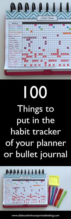 How to use a habit tracker for your planner or bullet journal ideas list bujo planner inspiration organization time management #BooksOrganization