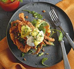 Fried Soft-Shell Crabs Benedict Recipe | Food Republic