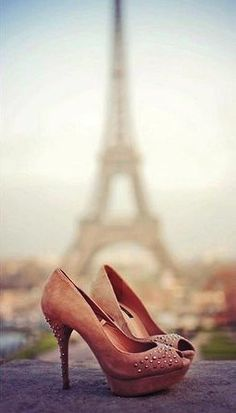 One of My Two Favorite Things In One Picture.. Shoes.. And The Eiffel Tower!! ❤