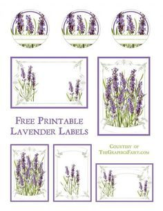 Lavender Labels Printable. Today we are sharing some lavender themed printable labels. These would look cute on your mason jars, or as gift tags! lilac lavender