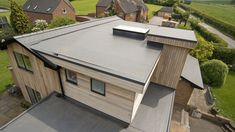 The Sarnafil single ply membrane was the best solution for this quite complex self build project
