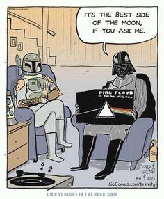 Dark Side of the Moon BY Pink Floyd. Star Wars and Pink Floyd yass! Star Wars Darth, Star Trek, Darth Maul, Planeta Rock, Dark Side Of Moon, Dark Vader, Musica Punk, Pop Rock, Rock Roll