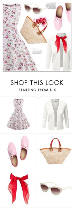 """rosegal vintage dress"" by duma-duma ❤ liked on Polyvore featuring Taschka, Balenciaga, MANGO, vintage and plus size dresses"