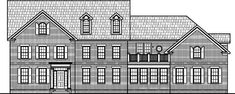two story colonial | Colonial Style House Plans 6000 SF 2 Million Dollar Home 5 BR 6 Bath 4 ...