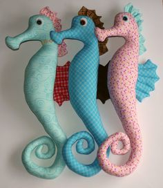 So cute!  Seahorse Softie PDF Pattern Direct Download