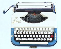 1955 Princess Cursive/Script Typewriter via joevintage on Etsy, Cursive Script, Antique Typewriter, East Germany, Vintage Typewriters, Tecno, Travel Accessories, Old School, Cool Stuff, Stuff To Buy