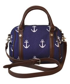 This Navy Anchor Mini Satchel is perfect!