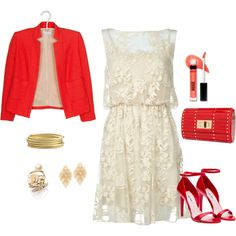 BEAUTY IN RED, created by lludmila-pujols on Polyvore