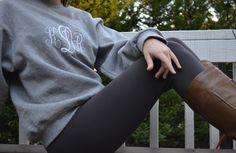 Monogrammed Sweatshirt. $28.00, via Etsy.