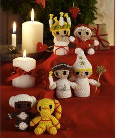 Xmas, Christmas Ornaments, Hygge, Holiday Decor, Holiday Ideas, Saint Lucia, Mamma, Knitting, Crochet