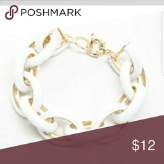 White Enamel Link Material content : plated metals, no lead, no nickel T&J Designs Jewelry Bracelets